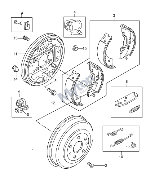 Land Rover Freelander 1 - Rear Drum Brakes - To Ya999999 Diagram intended for Land Rover Freelander Parts Diagram