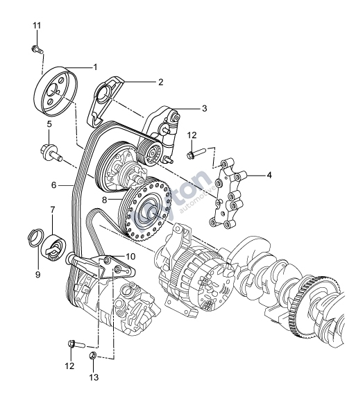 Land Rover Freelander 2 - Drive Belts And Pulleys 2.0 Turbo Petrol in Land Rover Freelander Parts Diagram