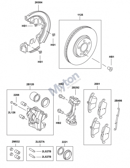 Land Rover Freelander 2 - Front Brake Discs, Pads & Calipers regarding Land Rover Freelander Parts Diagram