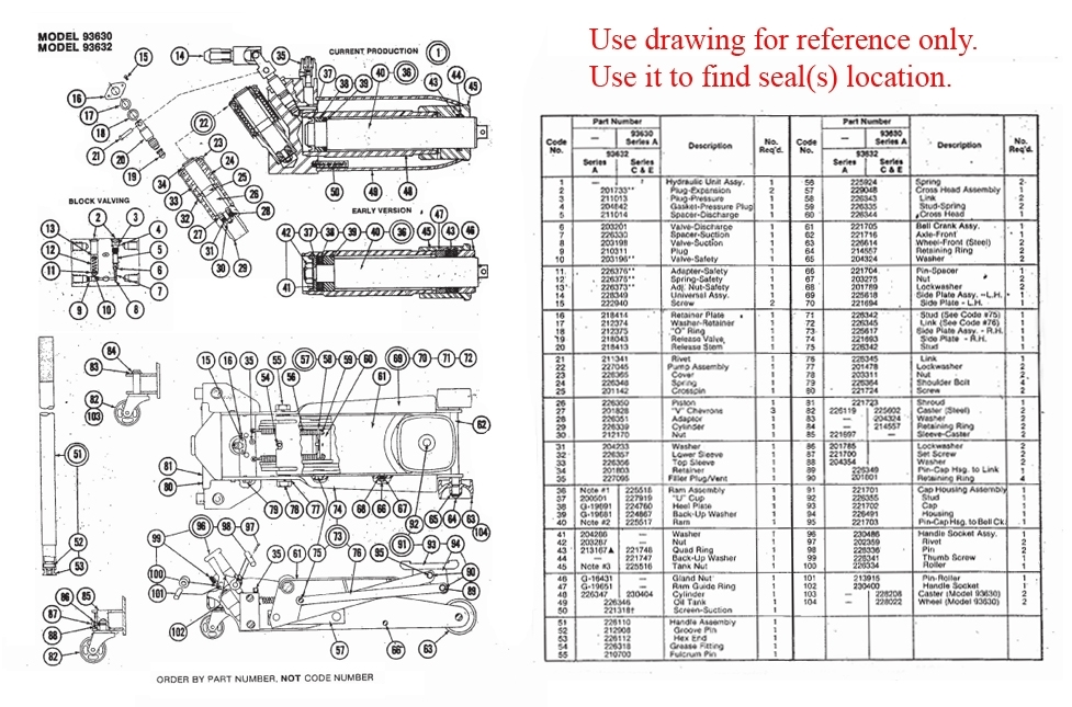 Lazzar's Floor Jack & Hydraulic Cylinder Repair Part Supplier in Hydraulic Floor Jack Parts Diagram