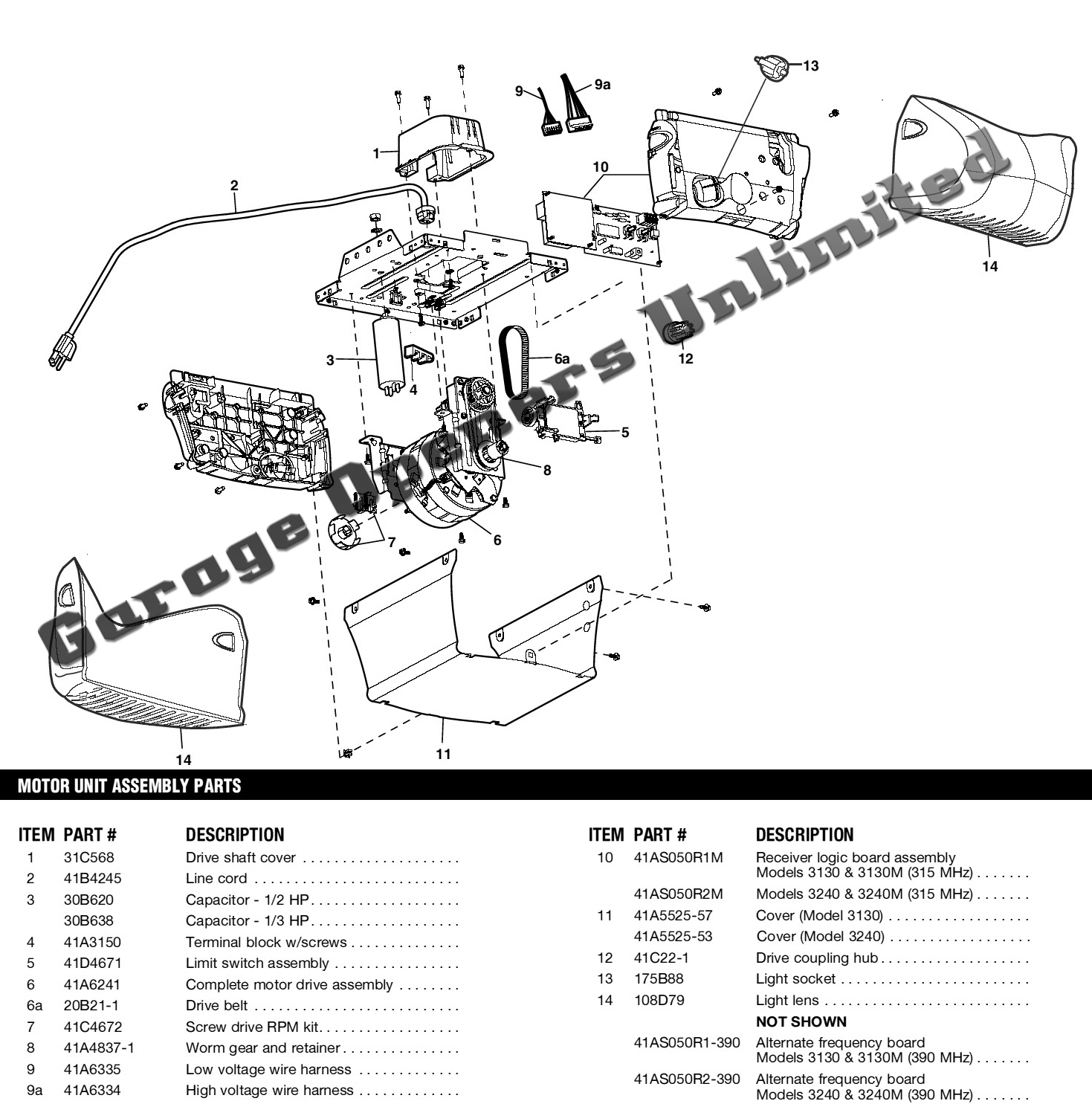 Liftmaster garage door opener parts diagram automotive for What size garage door opener