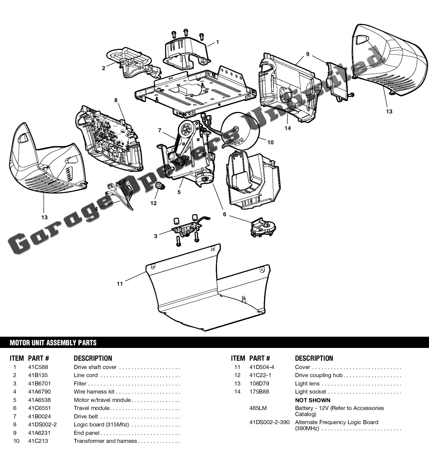 Liftmaster Garage Door Opener Parts Diagram Automotive