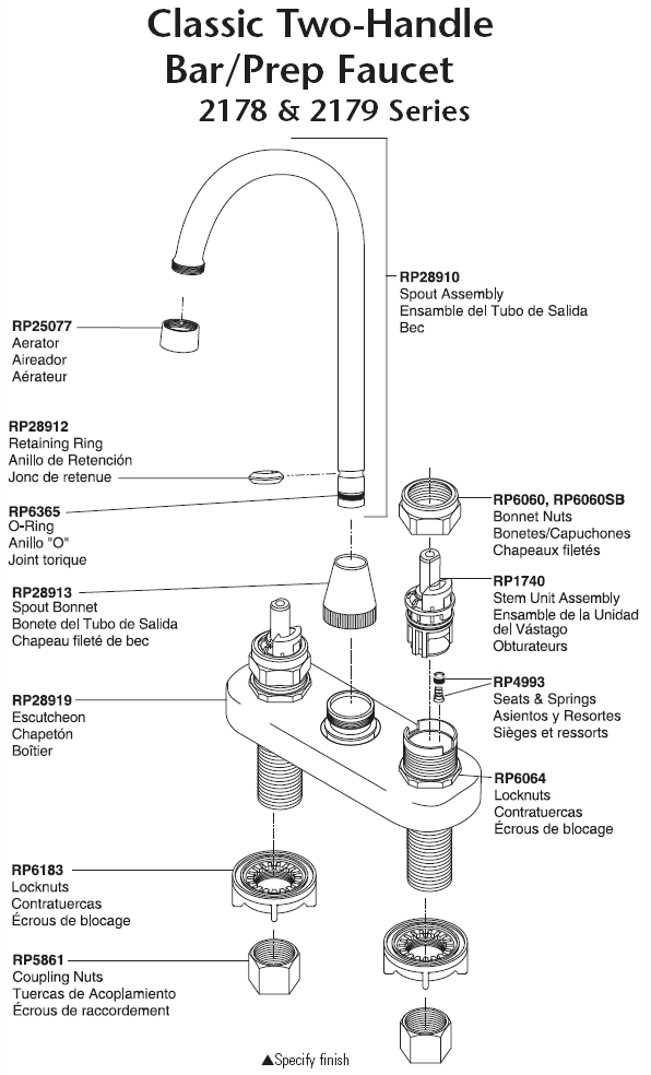 Peerless Kitchen Faucet Parts Diagram