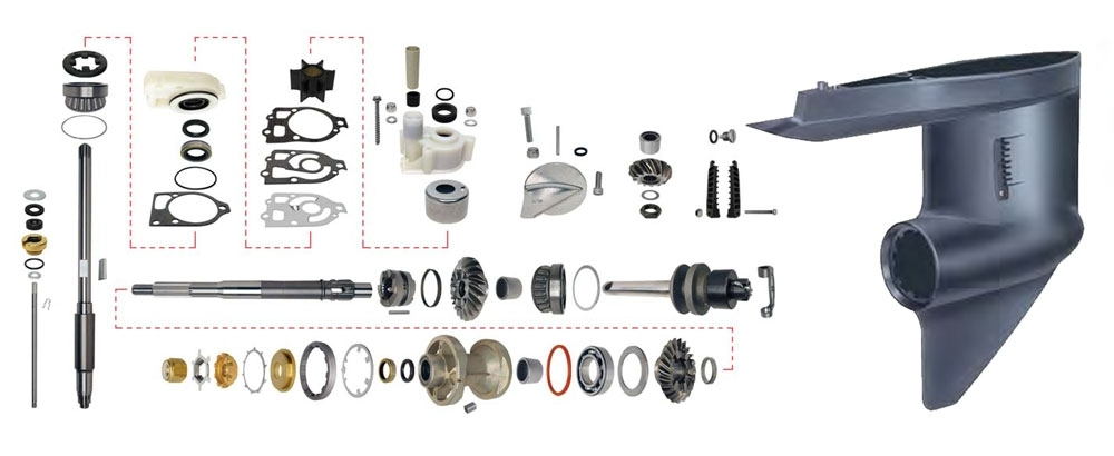 Lower Unit Components : Marine Engine Parts | Fishing Tackle intended for Mercruiser Alpha 1 Parts Diagram
