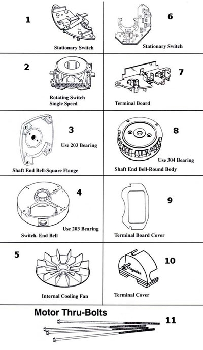 Magnetek Century Magnetek - Century Motor Parts Replacement Part with Ao Smith Motor Parts Diagram