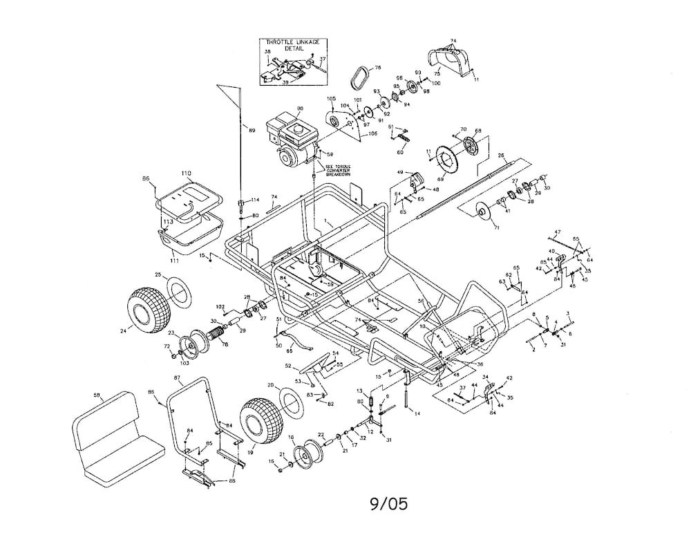 Manco Go Kart Parts | Model 496B | Sears Partsdirect inside Manco Go Kart Parts Diagram