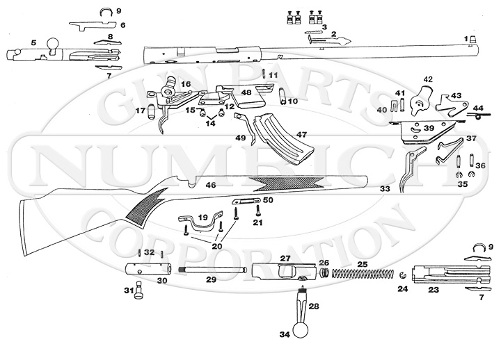 Mark Ii Schematic | Numrich for Savage Mark Ii Parts Diagram