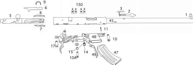 Mark Ii Series - Savage Arms Mark I Ii 93 Striker within Savage Mark Ii Parts Diagram