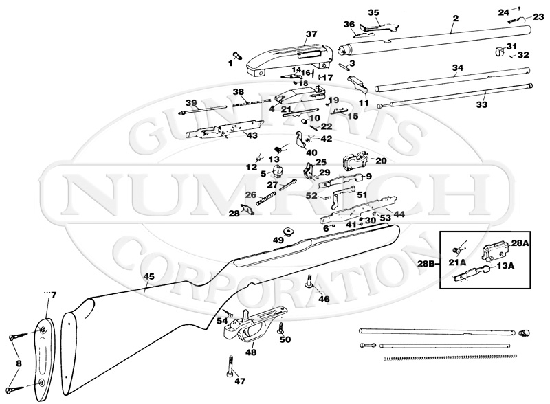Marlin Glenfield Model 40 for Marlin Model 60 Parts Diagram
