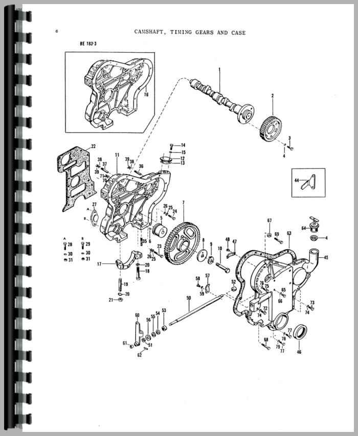 Massey Ferguson 135 Tractor Parts Manual within 135 Massey Ferguson Parts Diagram