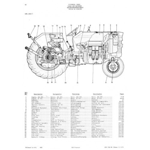 massey ferguson 165 parts diagram