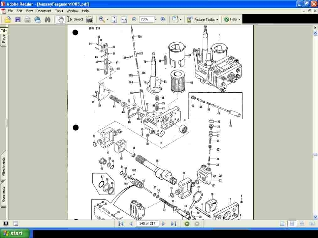 Massey Ferguson Mf 1155 Tractor Parts Manual & Diagrams For Sale throughout Massey Ferguson 135 Parts Diagram