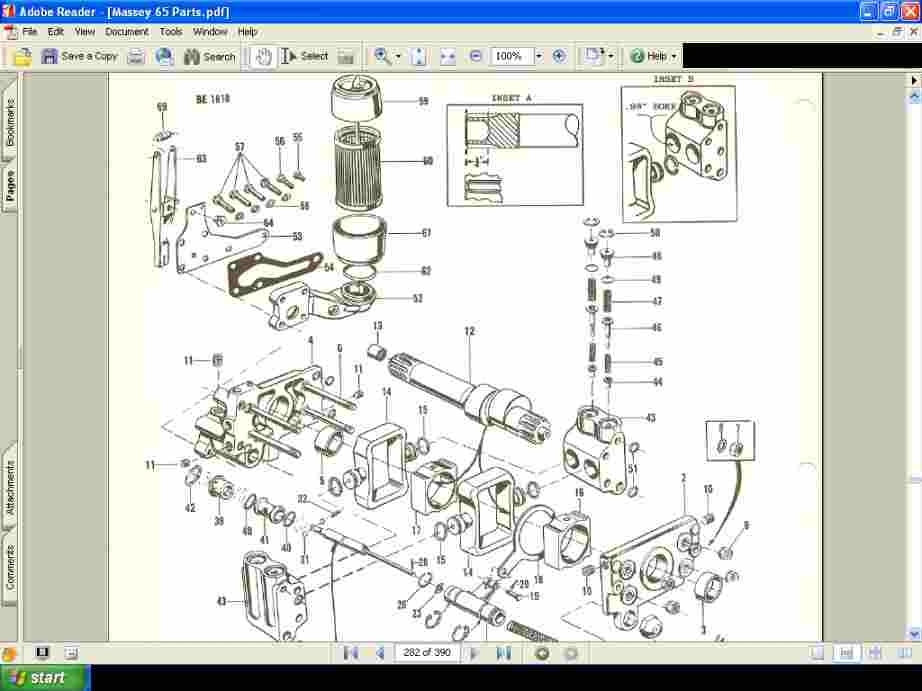 Massey Ferguson Mf165 Parts Manual 390Pg Complete Part For Sale intended for Massey Ferguson 135 Parts Diagram