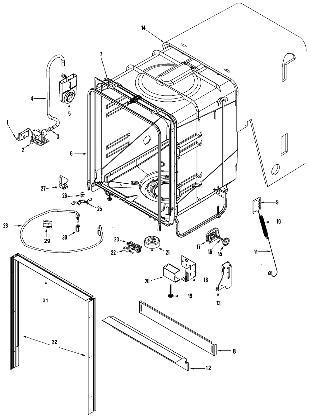 Maytag Maytag Dishwasher Parts | Model Mdb5651Awb | Sears Partsdirect throughout Maytag Quiet Series 300 Parts Diagram
