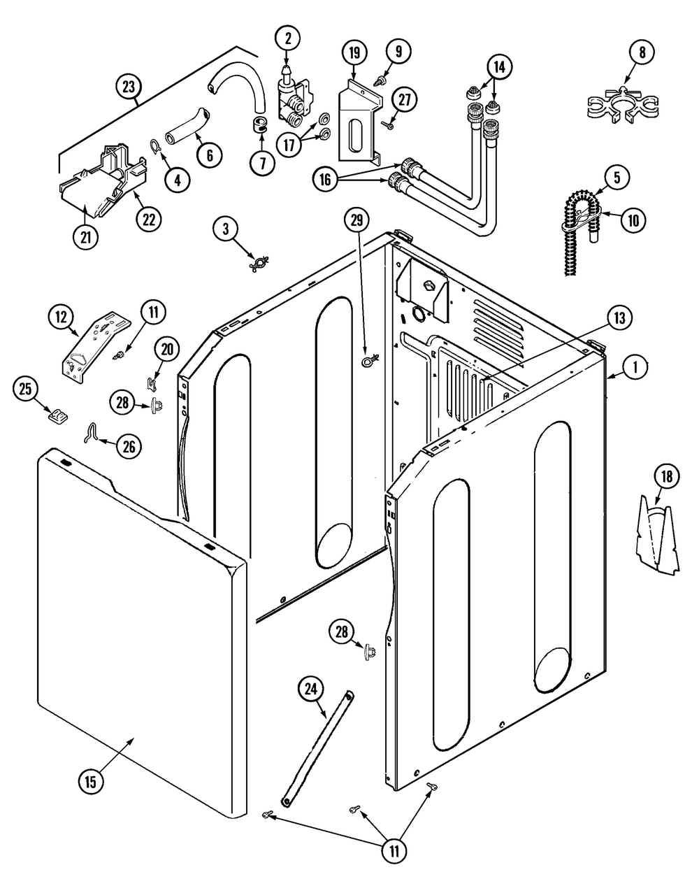 Maytag Washer Parts | Model Mav5960Aww | Sears Partsdirect with Maytag Front Load Washer Parts Diagram