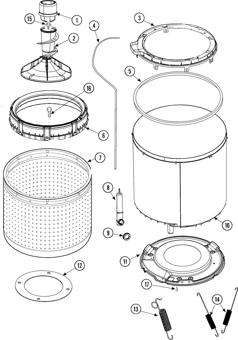 maytag front load washer parts diagram