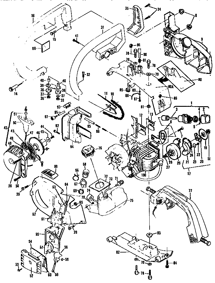 Mcculloch Chainsaw Parts | Model Eagerbeaver2160013203 | Sears in Eager Beaver Chainsaw Parts Diagram