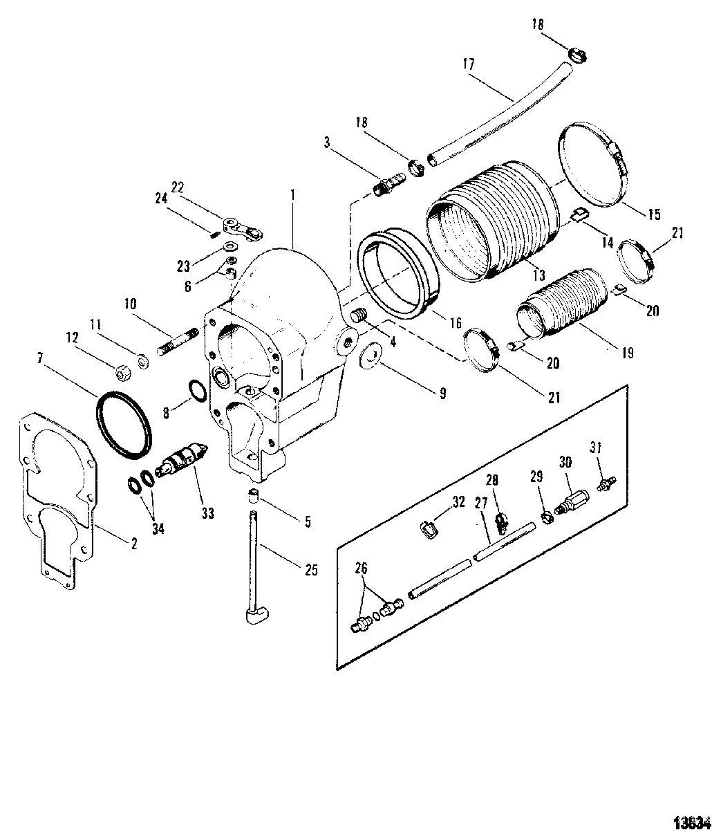 Mercruiser : Alpha One Gen Ii Sterndrive And Transom Assembly for Mercruiser Alpha 1 Gen 2 Parts Diagram