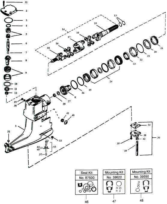 Mercruiser Alpha One Parts Drawing in Mercruiser Alpha 1 Parts Diagram