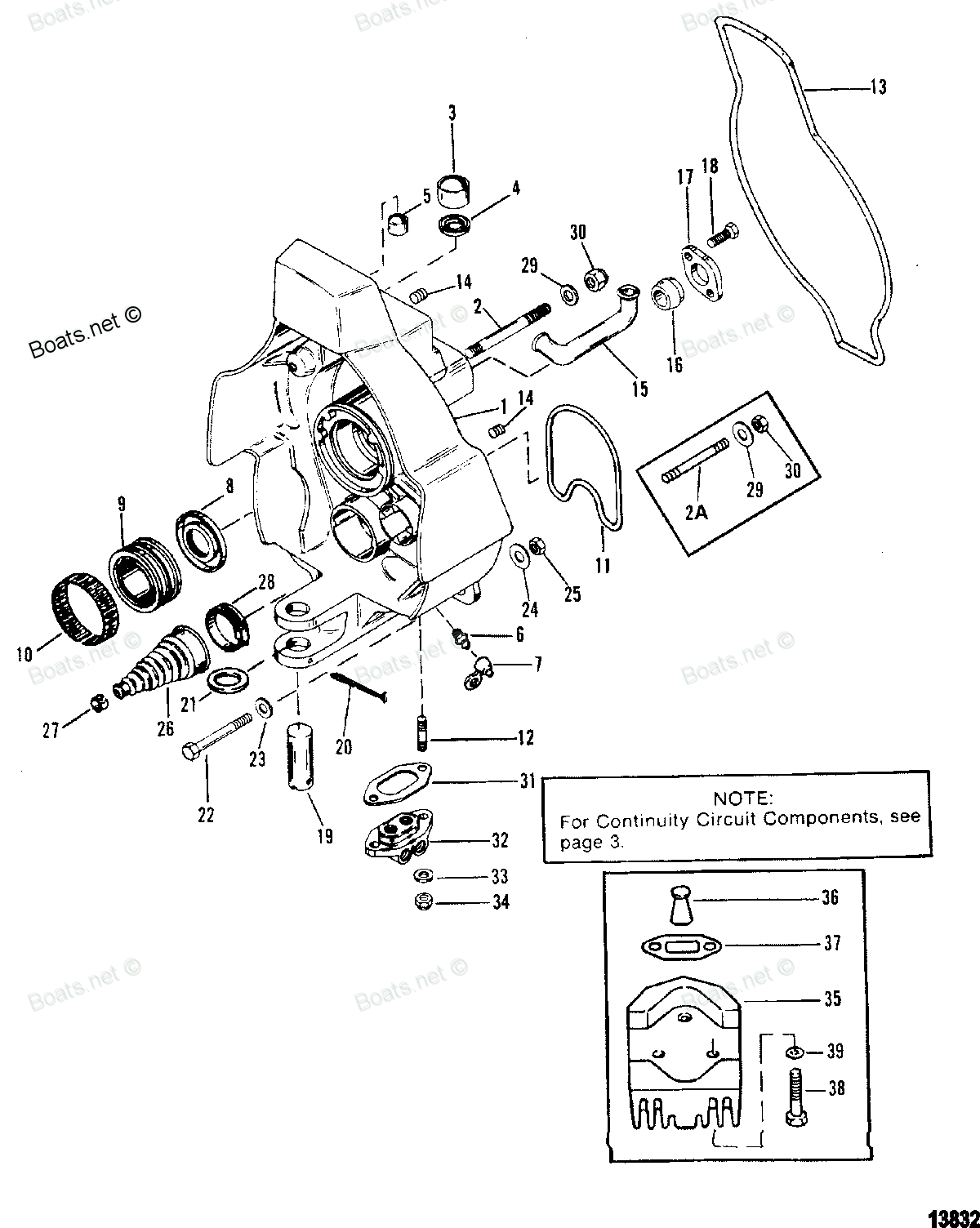 Mercury Mercruiser Parts Alpha One (Gen.ii) 1991-1995 0D469859 inside Mercruiser Alpha 1 Gen 2 Parts Diagram