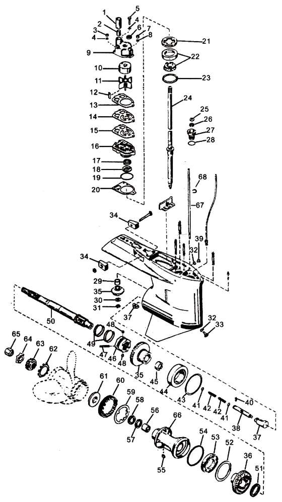Mercury Outboard Motor Parts Diagram on mercury water pump replacement