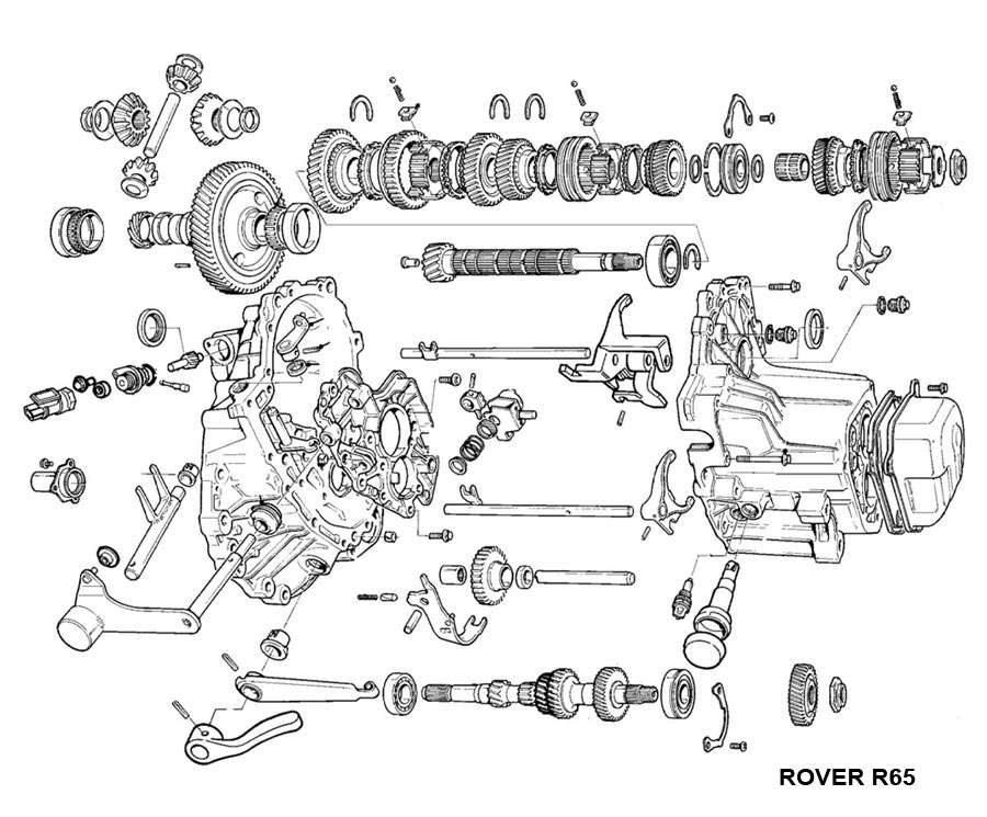 Mini Cooper 5 Speed Transmission - Midlands for Mini Cooper Engine Parts Diagram