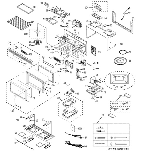 Model Search | Jvm1440Wh01 with Ge Spacemaker Microwave Parts Diagram