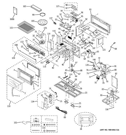 Model Search | Jvm3670Sk04 within Ge Spacemaker Microwave Parts Diagram