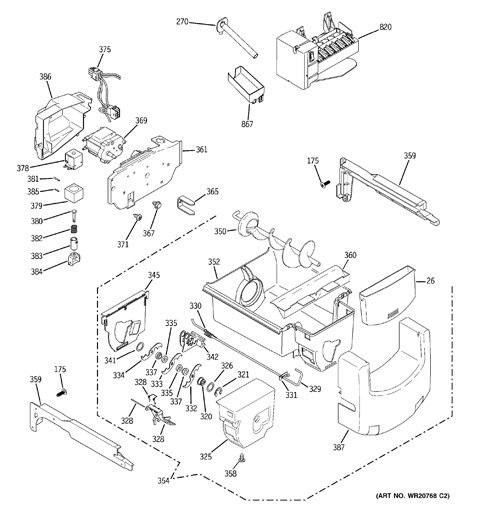 Model Search | Pshs9Pgzbcss regarding Ge Ice Maker Parts Diagram