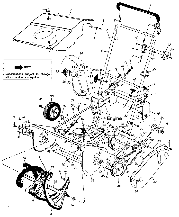 Mtd Snow Thrower Parts | Model 311180000 | Sears Partsdirect throughout Mtd Snow Thrower Parts Diagram