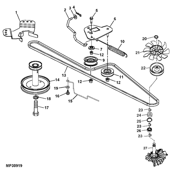 Mutton Power Equipment - John Deere L100 Gear Transmission Parts with John Deere L100 Parts Diagram