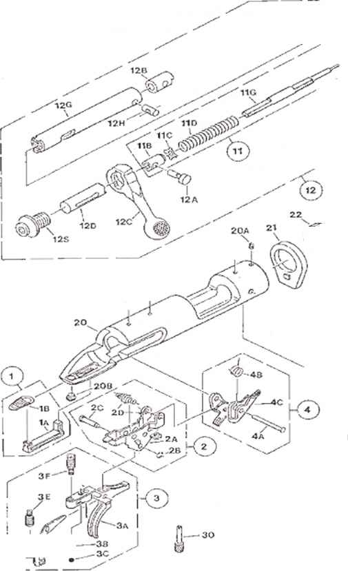 Muzzleloader Parts - Savage Arms Model 10Ml Ii Muzzleloader throughout Savage Model 110 Parts Diagram