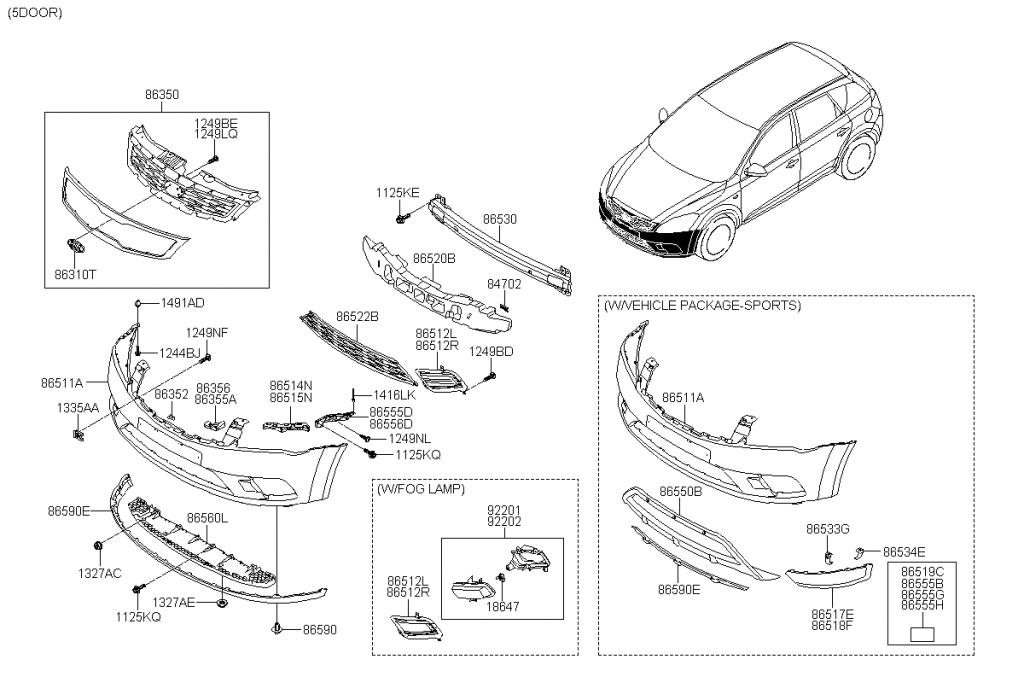 2004 Kia Sorento Parts Diagram
