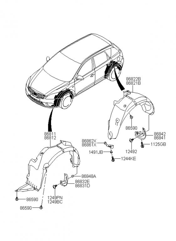 My10 Parts Diagrams? Damaged My Front. - Kia Forum throughout 2004 Kia Sorento Parts Diagram