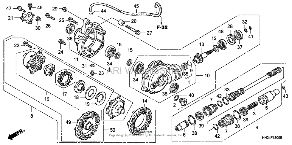Need Help With Rubicon Front Diff - Honda Foreman Forums : Rubicon within Honda Foreman 500 Parts Diagram