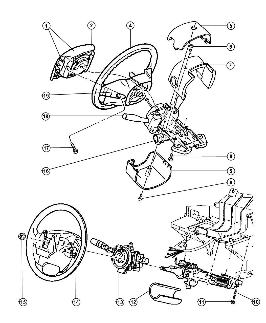 New Genuine Mopar 04686665Ad Immobilizer Module For Wrangler with regard to Chrysler Town And Country Parts Diagram