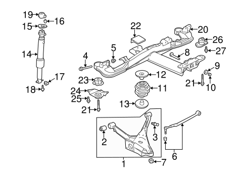 Oem 2000 Buick Lesabre Rear Suspension Parts | Gmpartsonline in 2000 Buick Lesabre Parts Diagram