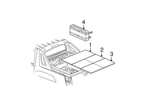 Oem 2002 Chevrolet Avalanche 1500 Exterior Trim - Rear Body Parts with regard to 2002 Chevy Avalanche Parts Diagram