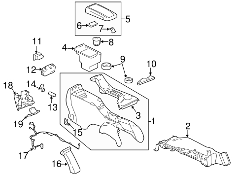 Oem 2006 Chevrolet Trailblazer Center Console Parts intended for 2006 Chevy Trailblazer Parts Diagram