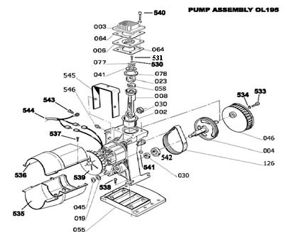 Ol195 Pump Parts throughout Bostitch Air Compressor Parts Diagram
