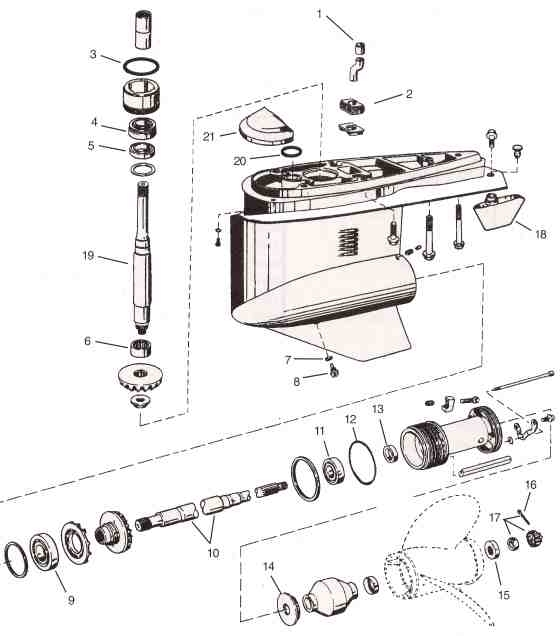 Omc Parts Drawings * Outdrive Repair Help * Videos intended for Volvo Penta Sx Parts Diagram