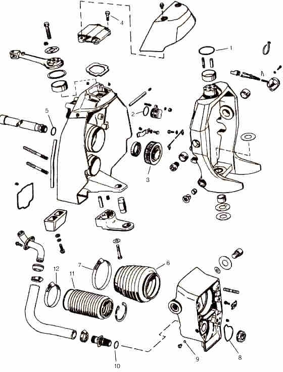 Omc Parts Drawings * Outdrive Repair Help * Videos with Volvo Penta Outdrive Parts Diagram