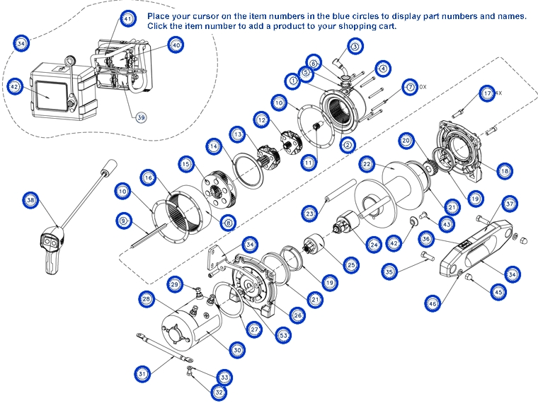 warn winch 2500 parts diagram