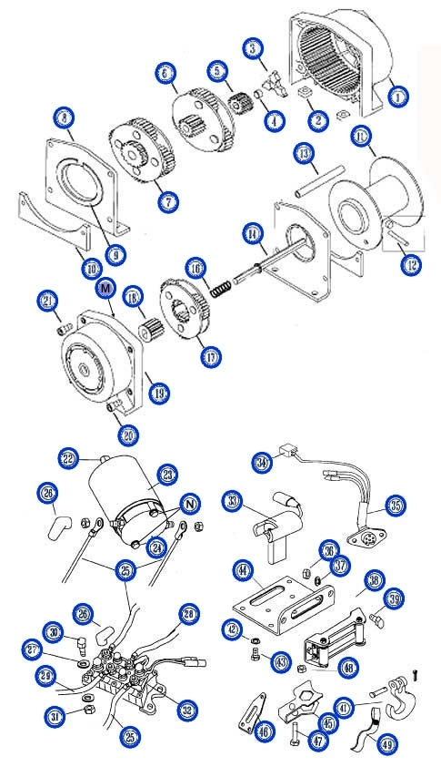 Order Warn A2500 Winch Replacement Parts From Your Warn Authorized pertaining to Warn Winch 2500 Parts Diagram