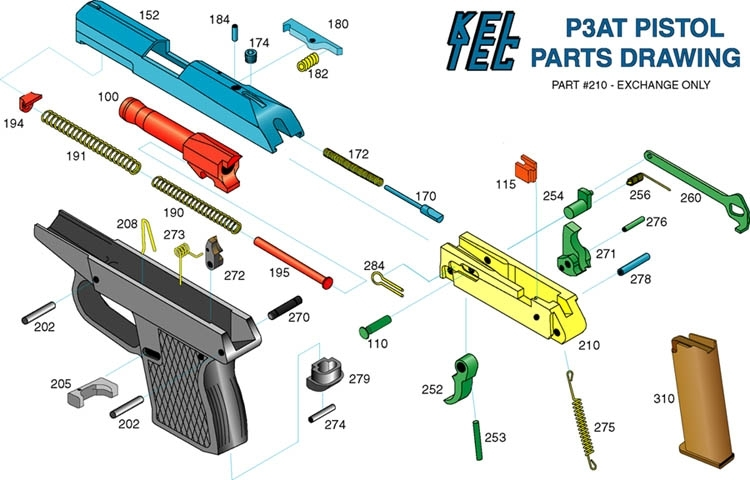 P-11/p-40 And P-32/p-3At Disassembly regarding Kel Tec Pf9 Parts Diagram
