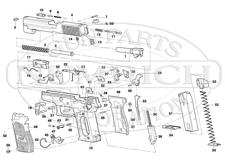 P226 Schematic | Numrich throughout Sig Sauer 1911 Parts Diagram
