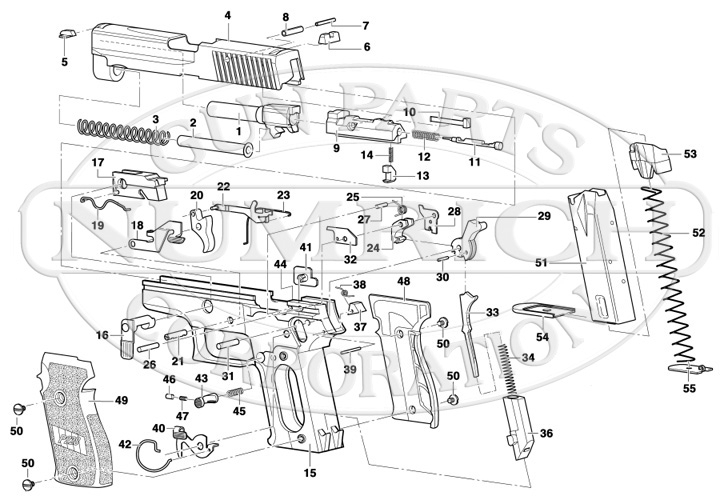 P228 Schematic | Numrich regarding Sig Sauer 1911 Parts Diagram
