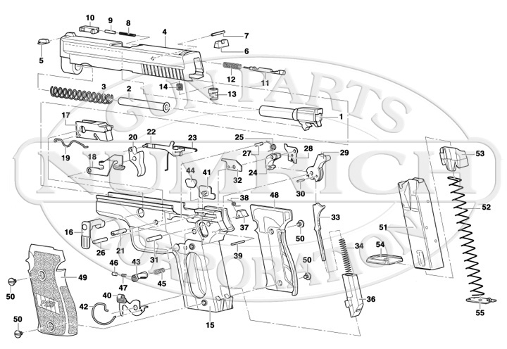 P229 Schematic | Numrich with regard to Sig Sauer P226 Parts Diagram