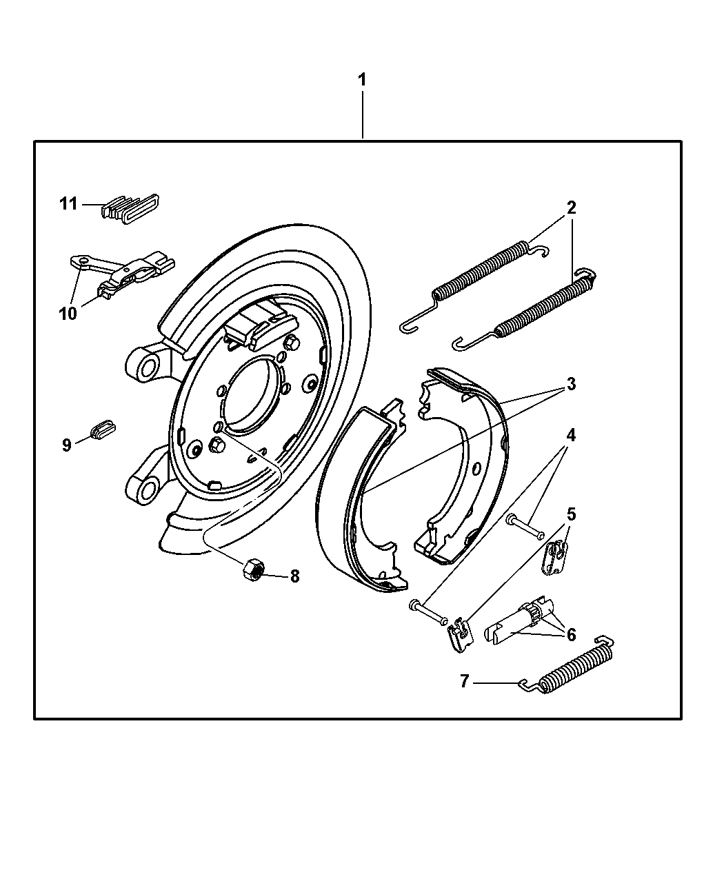 Parking Brake Assembly, Rear, Disc For 2003 Dodge Ram 1500 pertaining to 2003 Dodge Ram 1500 Parts Diagram