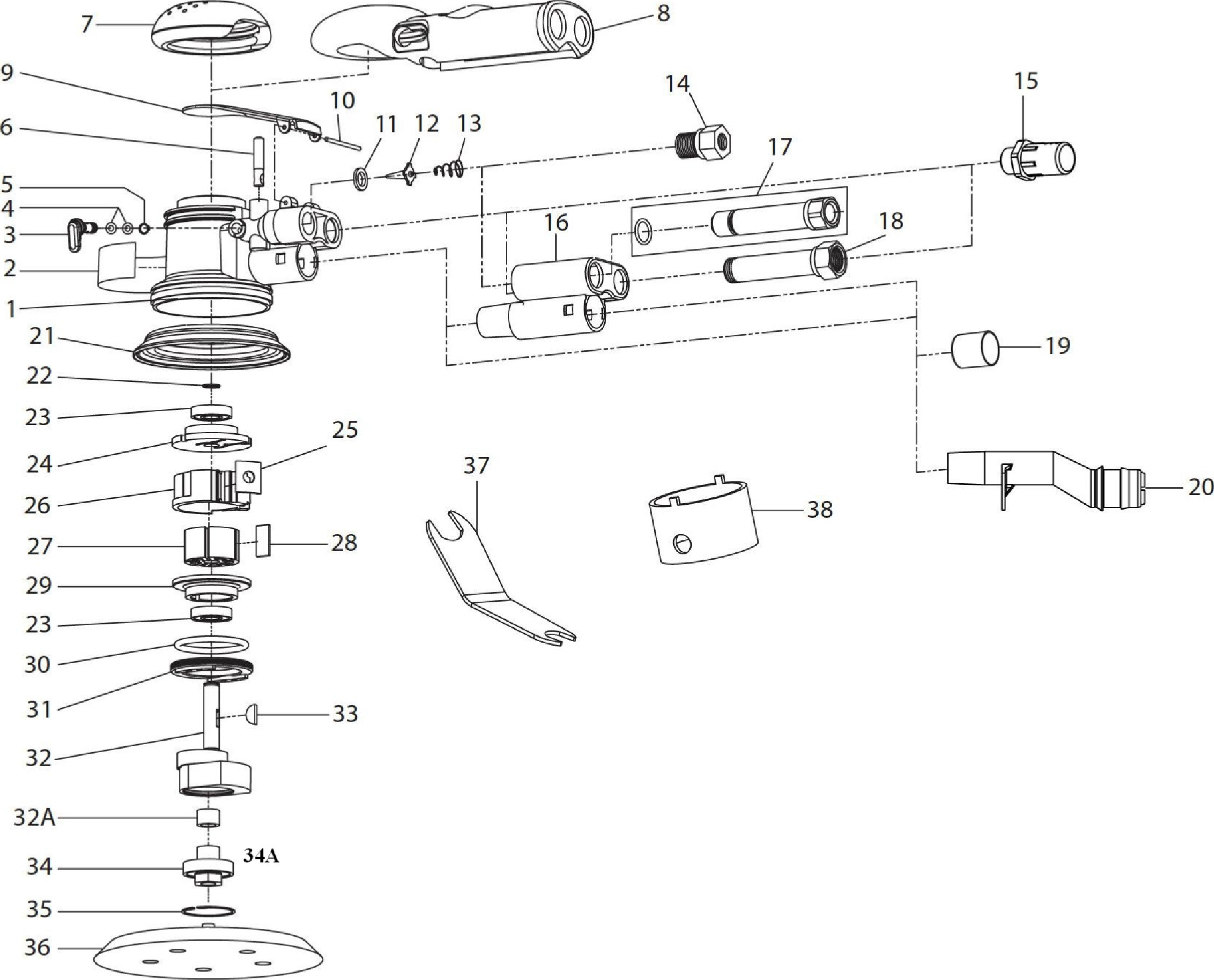 Part Listing Order Page throughout Ingersoll Rand Air Tool Parts Diagrams